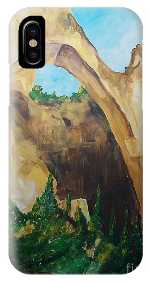 Floral IPhone X Case featuring the painting Arch by Eric Schiabor