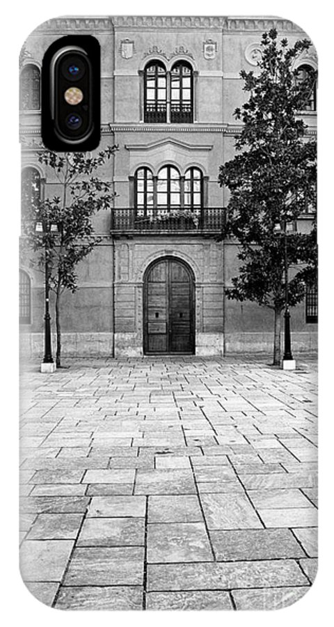 Mono IPhone X Case featuring the photograph Archbishop's Palace Granada by Guido Montanes Castillo