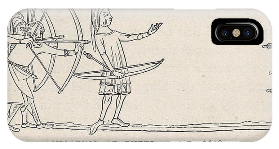 C14 IPhone X Case featuring the drawing Archers Practise At Butts by Mary Evans Picture Library