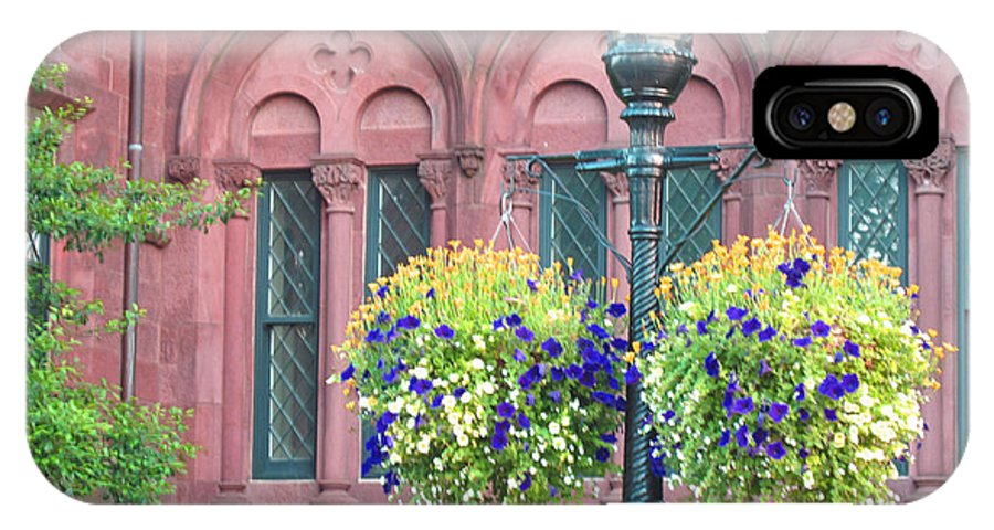 Floral IPhone X Case featuring the photograph Arches And Potted Plants by Barbara McDevitt