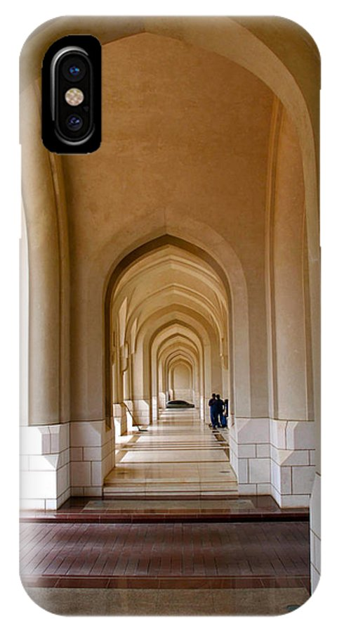 Palace IPhone X Case featuring the photograph Arches In An Arab Palace by Bob Parr