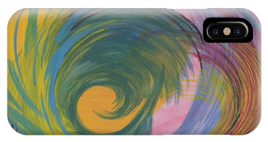 Curves IPhone X Case featuring the painting Arches Swirls by Jill Christensen