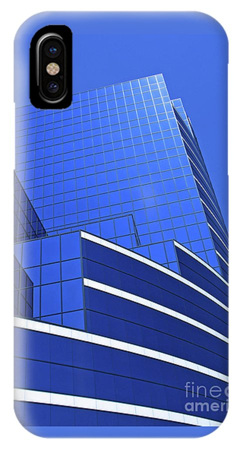 Architecture IPhone X Case featuring the photograph Architectural Blues by Ann Horn