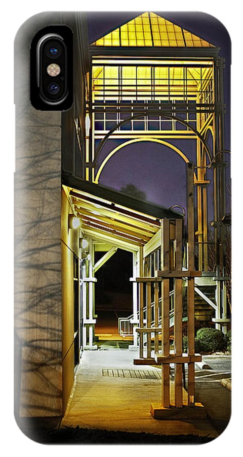 Archway IPhone X Case featuring the photograph Archways by Carolyn Ascher