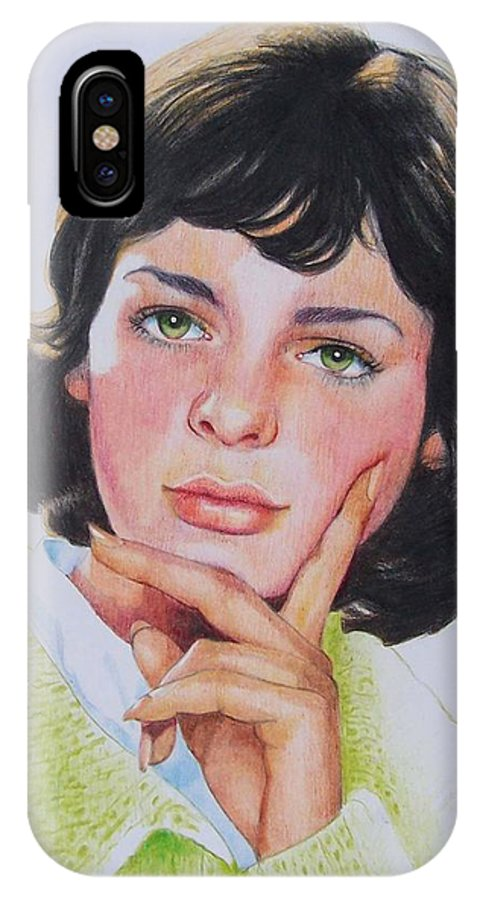 Portrait IPhone X Case featuring the mixed media Ariane by Constance Drescher