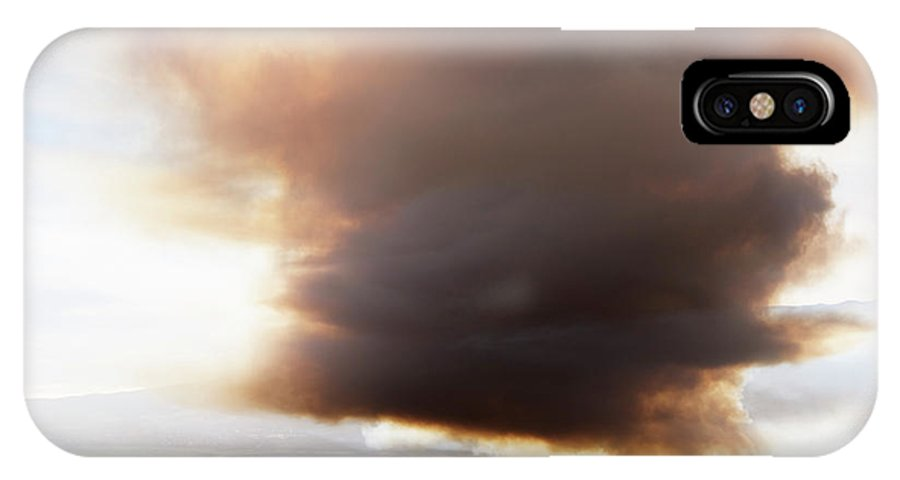 Agriculture IPhone X Case featuring the photograph Ariel View Of Burning Sugar Cane Fields by Ron Koeberer