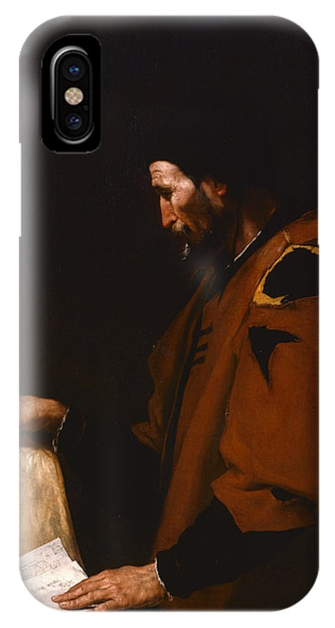 Aristotle IPhone X Case featuring the painting Aristotle by Jusepe de Ribera