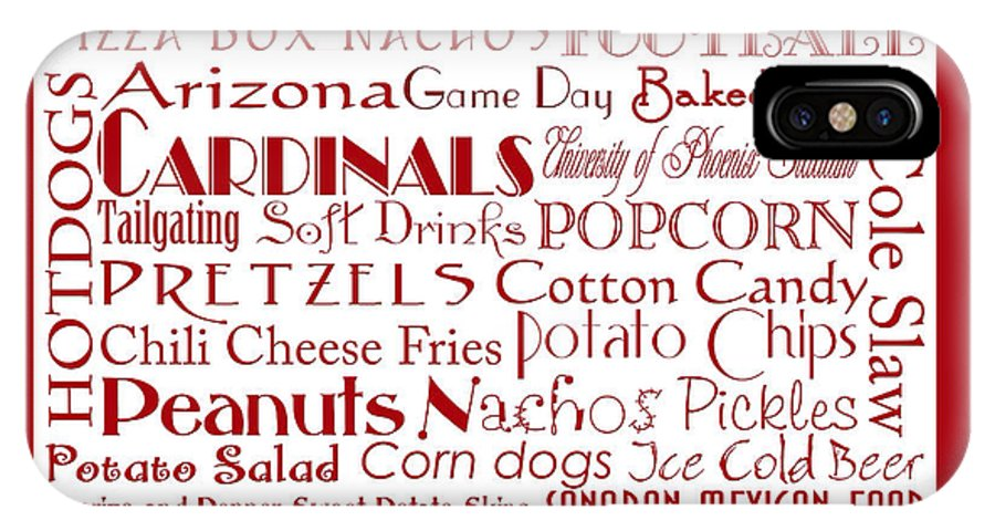 Andee Design Football IPhone X Case featuring the digital art Arizona Cardinals Game Day Food 2 by Andee Design