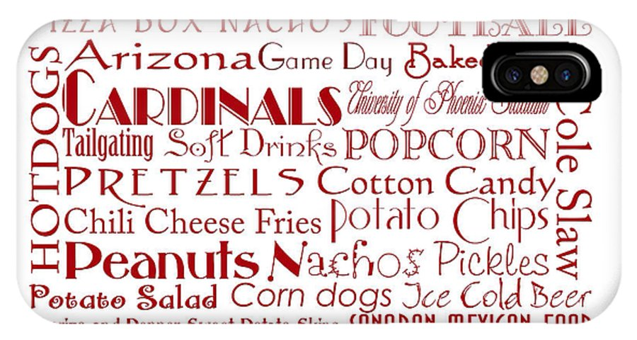 Andee Design Football IPhone X Case featuring the digital art Arizona Cardinals Game Day Food 3 by Andee Design