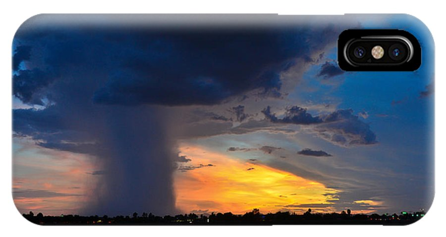 Monsoon IPhone X / XS Case featuring the photograph Arizona Monsoon by Bruce Wolke