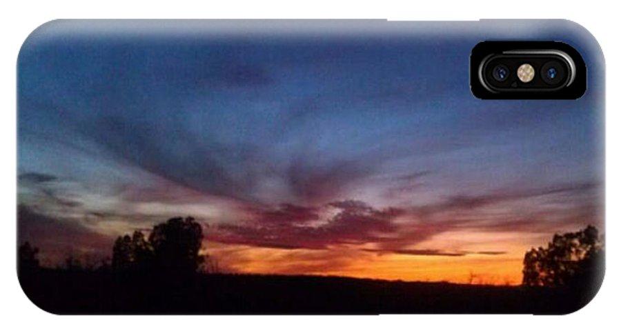Arizona IPhone X Case featuring the photograph Arizona Sunset by Frederick Holiday