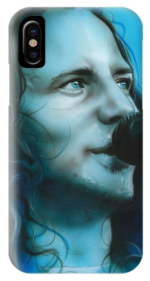Seattle IPhone X Case featuring the painting Arms Raised In A V by Christian Chapman Art