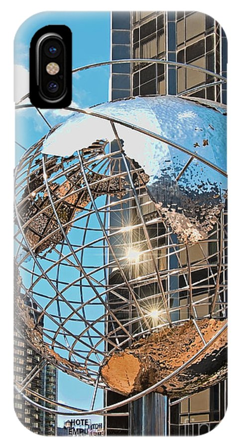 Trump Tower Globe IPhone X Case featuring the photograph Around The World In Nyc by Regina Geoghan