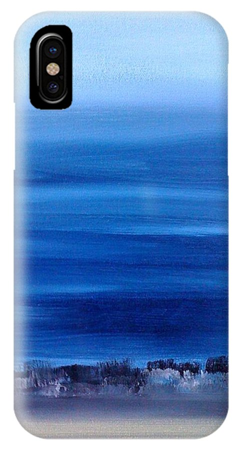 Cities IPhone X Case featuring the painting Arrivee A L Aeroport De Guigues by Danielle Landry