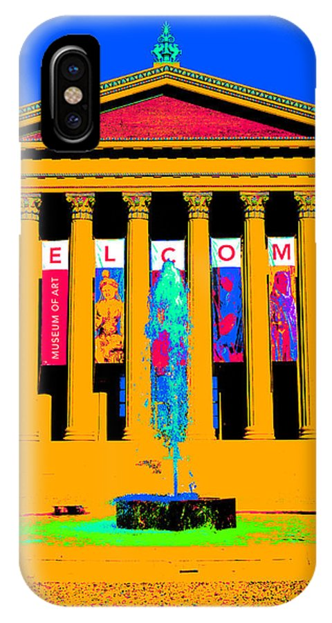 Art Museum IPhone X Case featuring the digital art Art Museum -philadelphia by Constantin Raducan