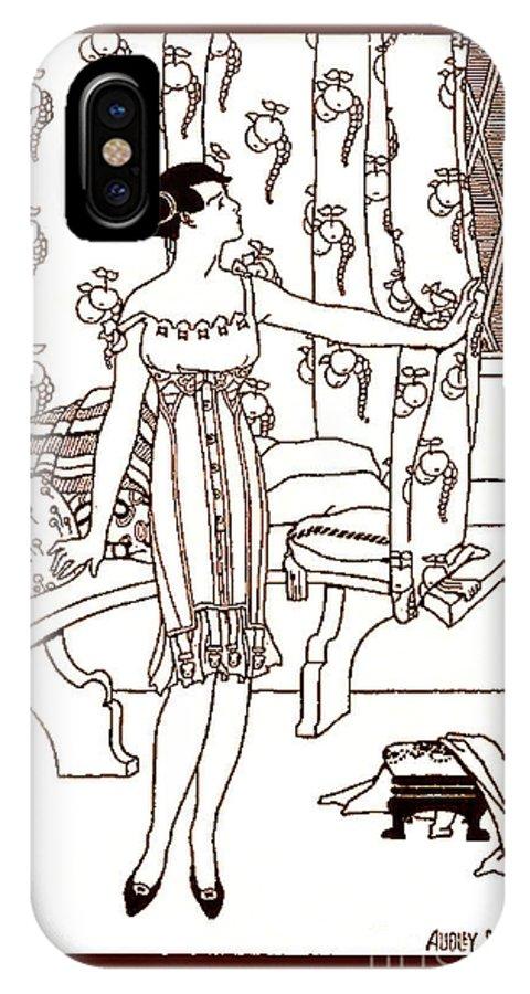 Art Nouveau IPhone X Case featuring the drawing Art Nouveau by Audley B Wells