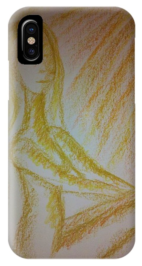 Woman IPhone X Case featuring the photograph Art Therapy 49 by Michele Monk