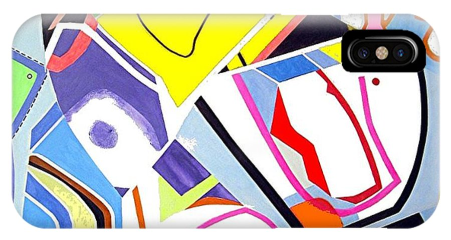 Therapy IPhone X Case featuring the painting Art Therapy II by Barron Holland