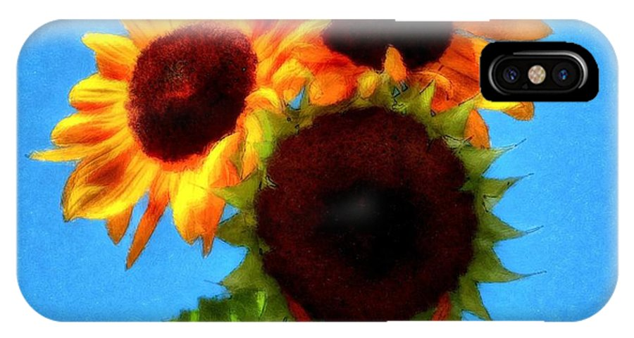 Artful Sunflower IPhone X Case featuring the photograph Artful Sunflower by Patrick Witz