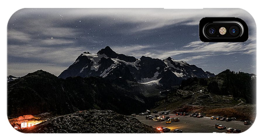 Washington IPhone X Case featuring the photograph Artist Point Night Photography by Paul Conrad
