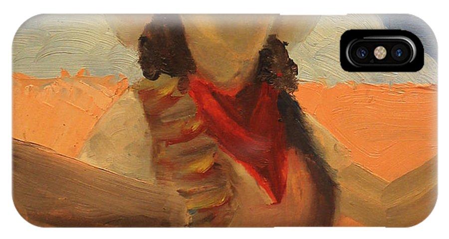 Senorita IPhone X Case featuring the painting Artistic Senorita 1939 by Art By Tolpo Collection