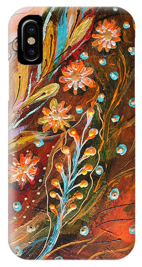 Jewish Art Prints IPhone X Case featuring the painting Artwork Fragment 49 by Elena Kotliarker