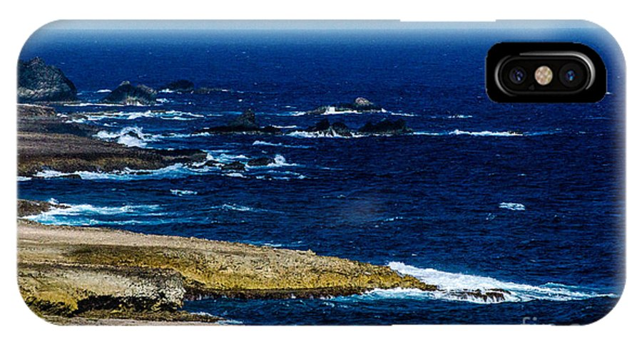 Aruba IPhone X Case featuring the photograph Aruba Coast by Judy Wolinsky