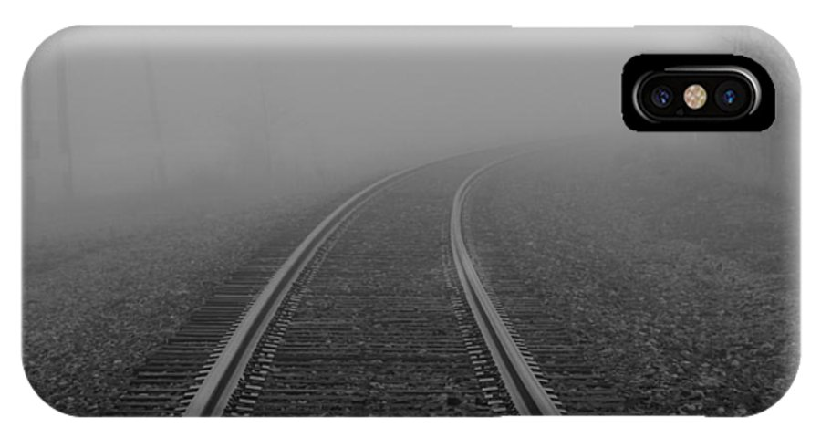 As I Walk The Rails IPhone X Case featuring the photograph As I Walk The Rails by Rachel Cohen