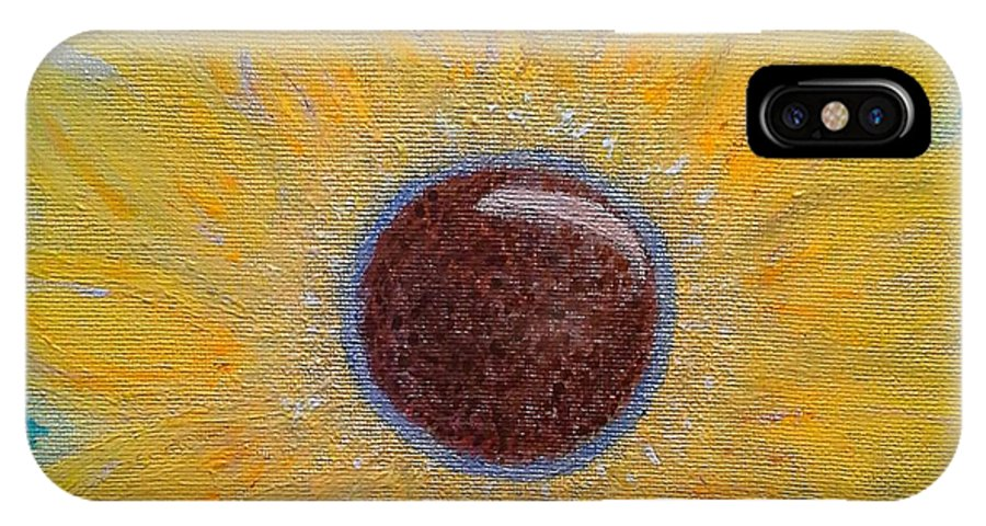 Acyrlic IPhone X Case featuring the painting As One by Kelly Stenger