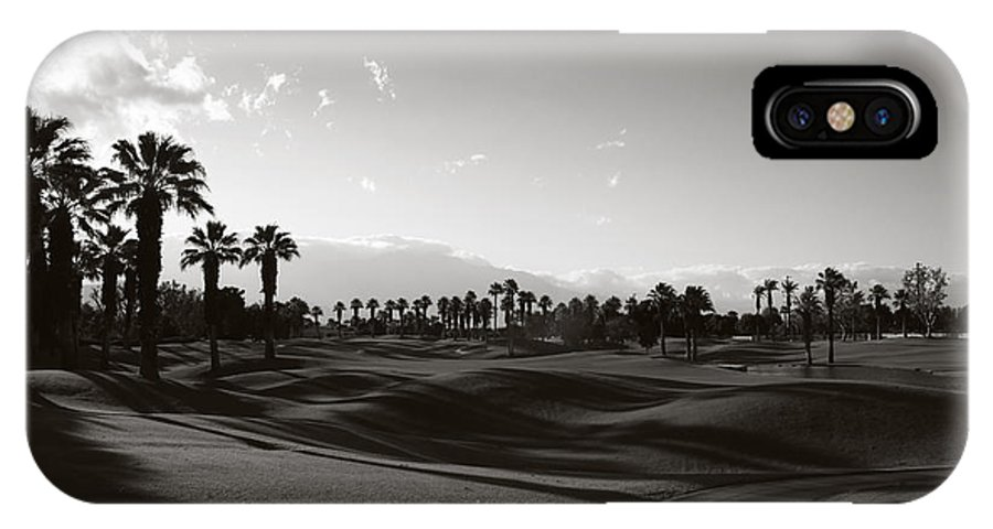 Palm Desert IPhone X Case featuring the photograph As Shadows Spread Across The Land by Laurie Search