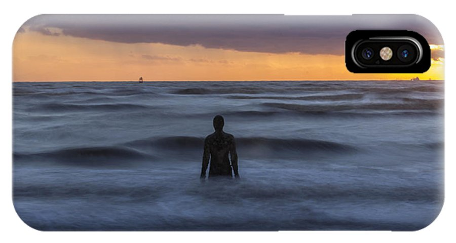 Liverpool IPhone X Case featuring the photograph As The Tide Rolls In by Paul Madden