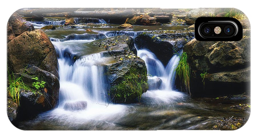 Creekside IPhone X / XS Case featuring the photograph As The Water Flows by Saija Lehtonen
