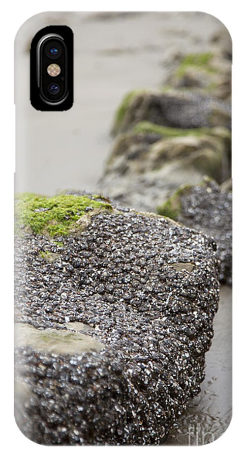 Rocks IPhone X Case featuring the photograph As You Leave by Amanda Barcon
