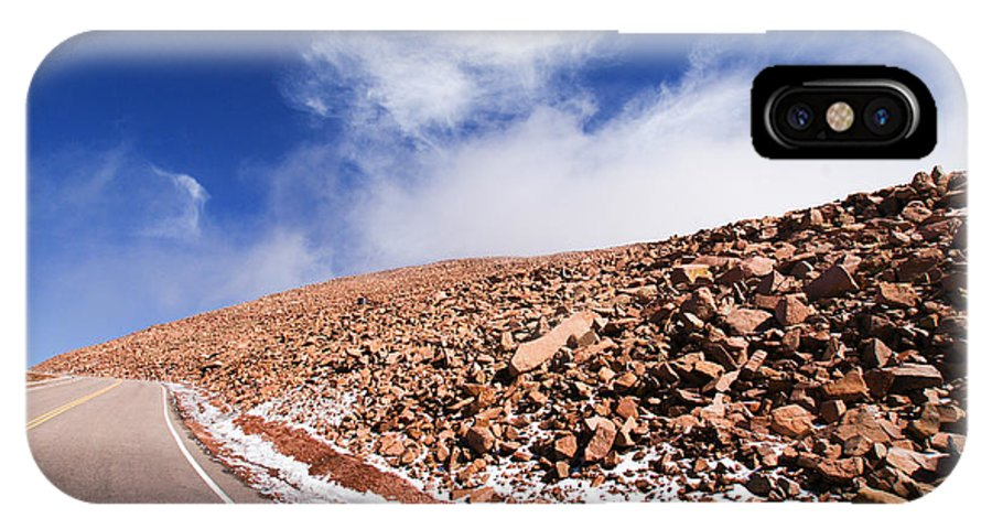 Pikes Peak IPhone X Case featuring the photograph Ascent To The Top by Phil Craddock