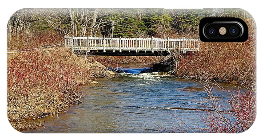 Ash Brook IPhone X Case featuring the photograph Ash Brook And Bridge by MTBobbins Photography