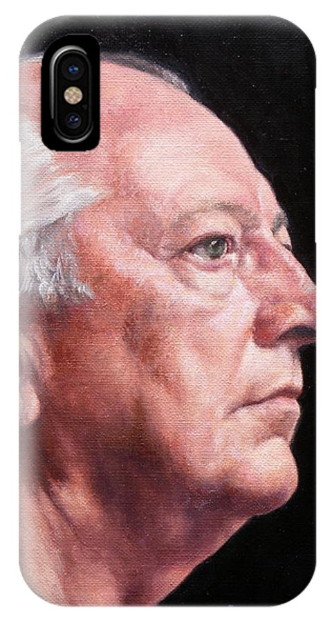 Portrait IPhone X Case featuring the painting Ashby's Portrait by Deborah Allison