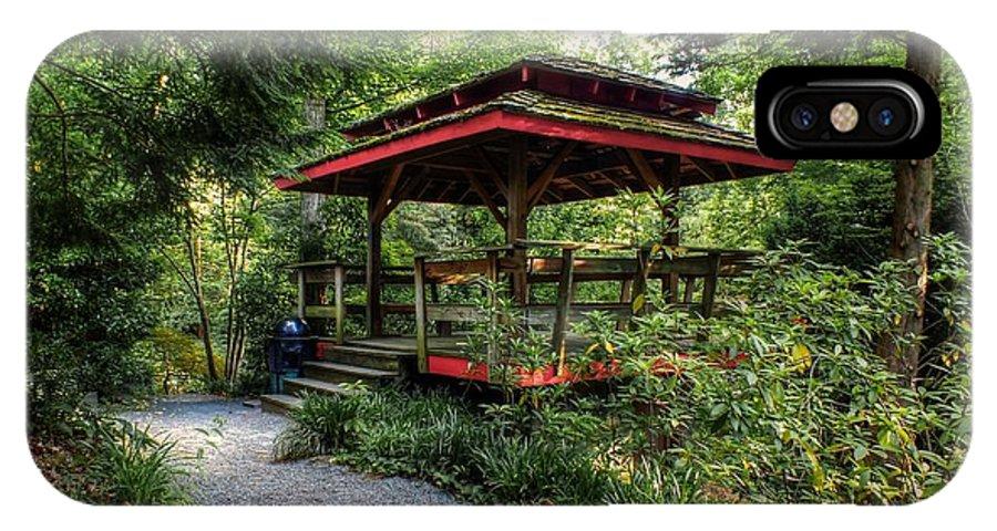 Asian-style Gazebo - Unc Charlotte Botanical Gardens IPhone X Case ...