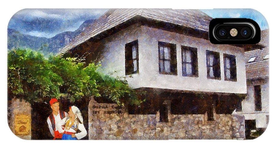 Asukovanje IPhone X Case featuring the painting Asikovanje by Ramo Sabanovic