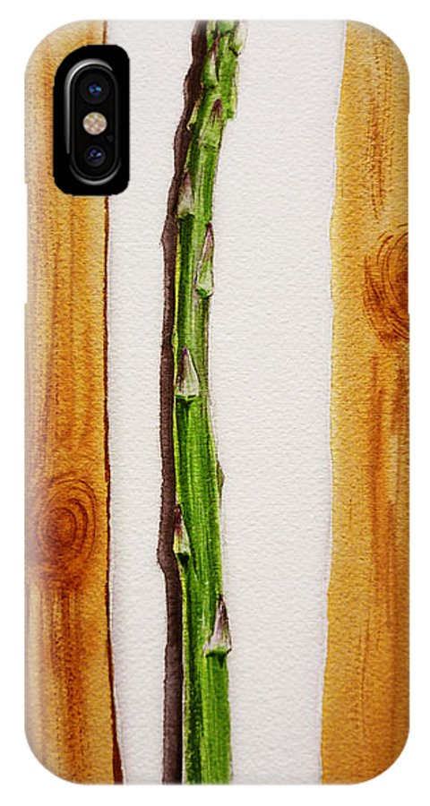 Asparagus IPhone X Case featuring the painting Asparagus Tasty Botanical Study by Irina Sztukowski