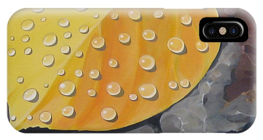 Aspen IPhone X Case featuring the painting Aspen Rain by Hunter Jay