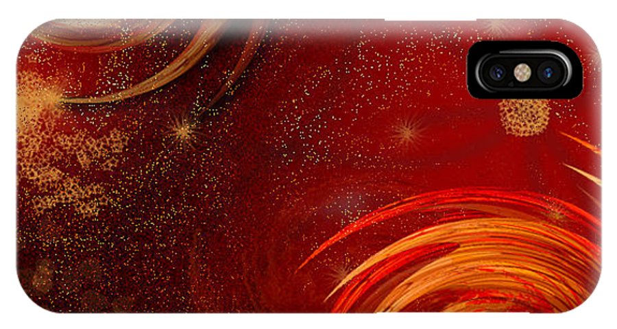 2-dimensional IPhone X Case featuring the digital art Assertive Originality by Dana Haynes