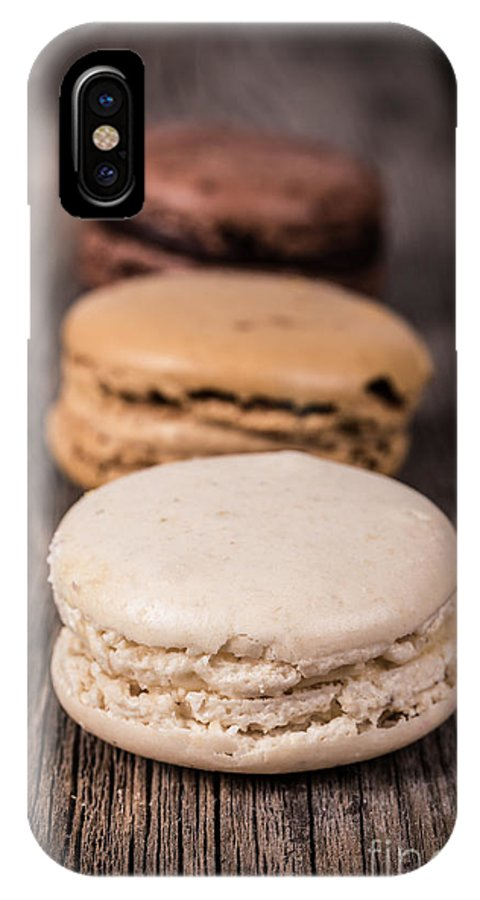 Background IPhone X Case featuring the photograph Assorted Macaroons Vintage by Jane Rix