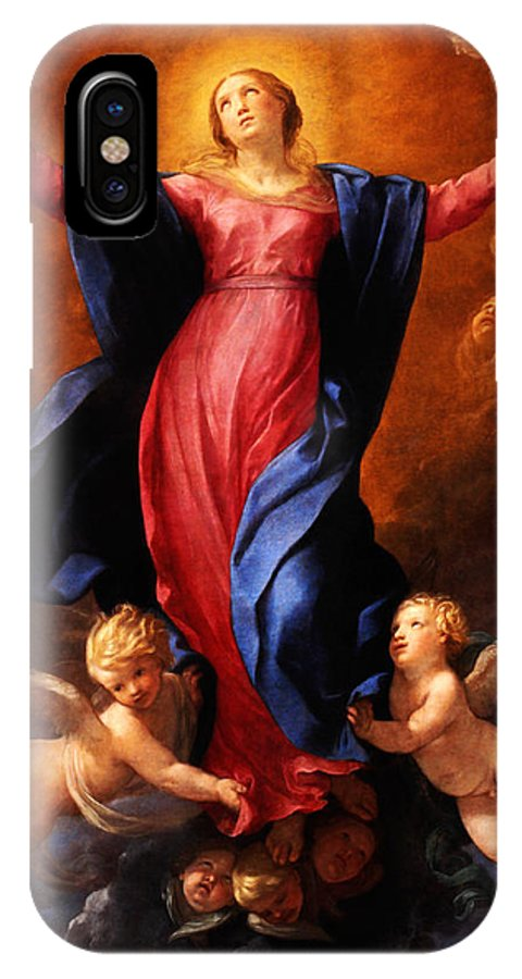 Assumption Of The Virginguido Reni IPhone X / XS Case featuring the painting Assumption Of The Virgin by Celestial Images