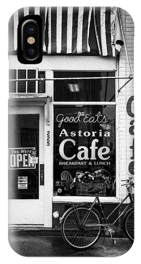 Oregon IPhone X Case featuring the photograph Astoria Cafe by Paul Haist