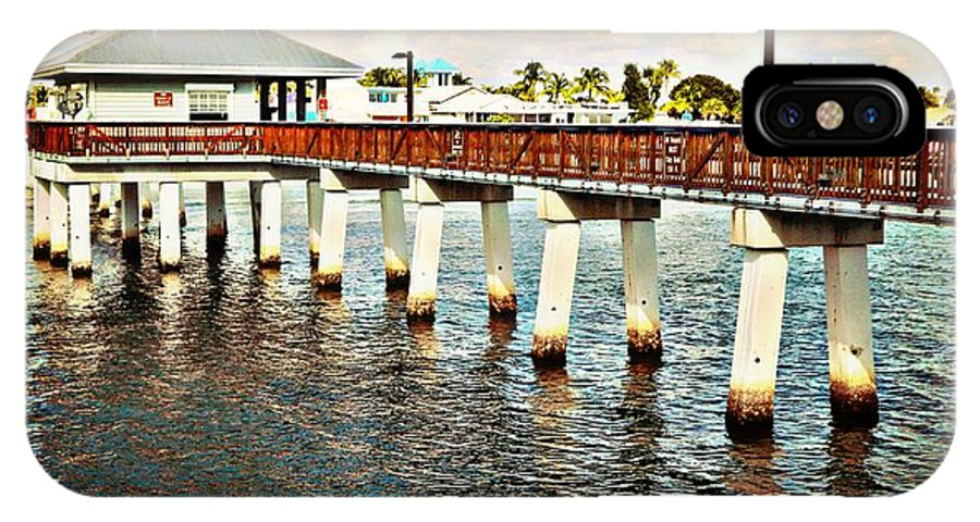 Fort Myers Beach Pier IPhone X / XS Case featuring the photograph At A Glance by Jennifer Boisvert