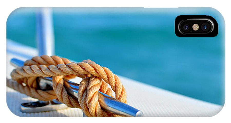Laura Fasulo IPhone X Case featuring the photograph At Sea by Laura Fasulo