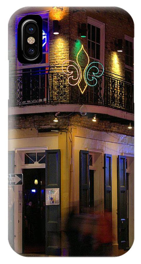 Club IPhone X Case featuring the photograph At The Club On Bourbon by Anthony Walker Sr