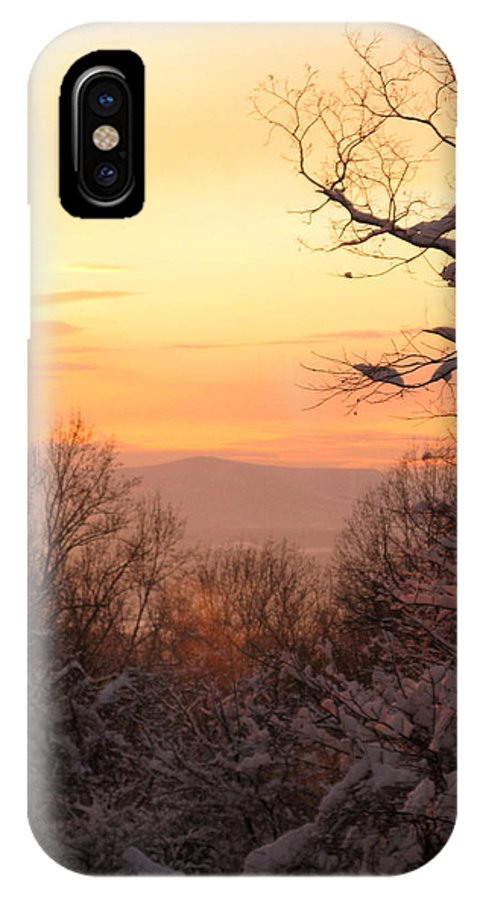 Winter Photo IPhone X Case featuring the photograph At The End Of The Day by Laura Corebello