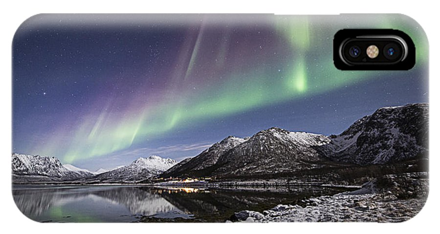 Frank Olsen IPhone X / XS Case featuring the photograph At The Fjord by Frank Olsen