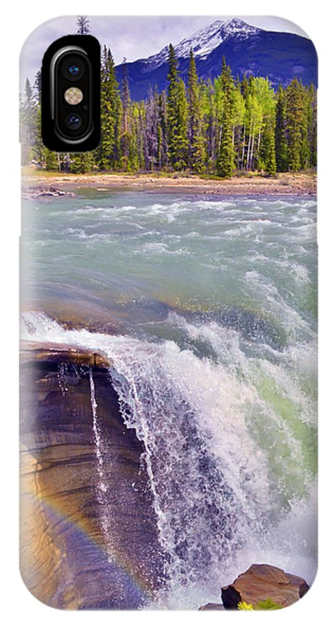 Athabasca Falls IPhone X Case featuring the photograph Athabasca Falls by Tara Turner